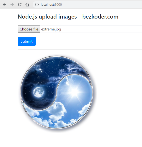 node-js-upload-store-images-mongodb-demo-single-image