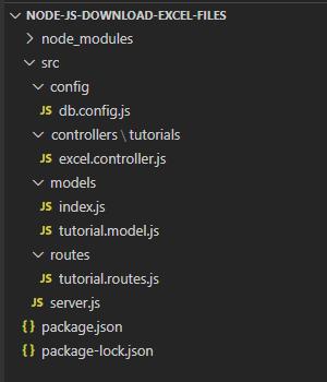 node-js-download-export-excel-file-database-exceljs-project-structure