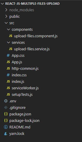 react-multiple-files-upload-progress-bar-project-structure