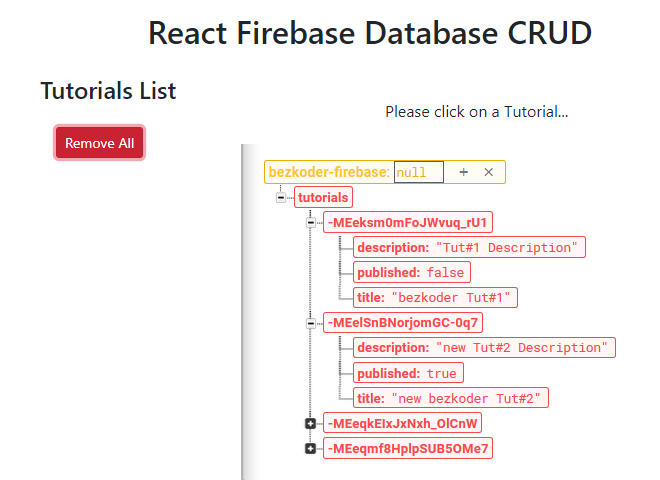 react-firebase-crud-realtime-database-delete-all