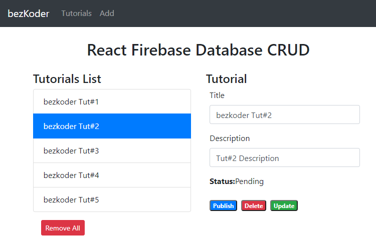 react-firebase-crud-realtime-database-retrieve-all