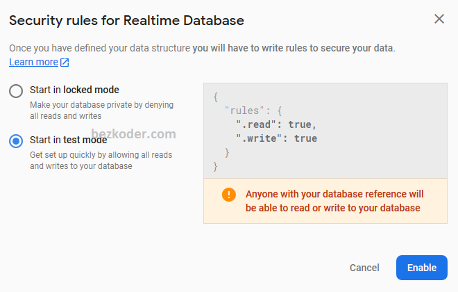 react-firebase-hooks-crud-realtime-database-config-rules