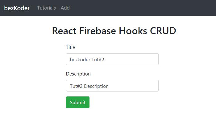react-firebase-hooks-crud-realtime-database-create