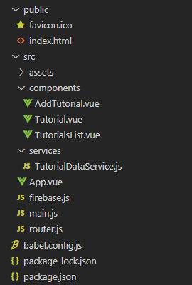 vue-firestore-crud-app-project-structure