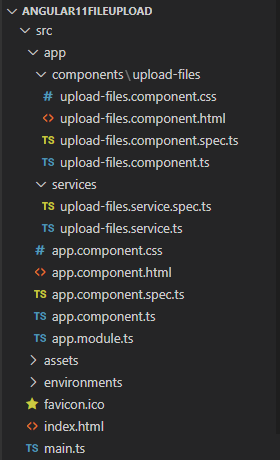 angular-11-file-upload-example-progress-bar-project-structure