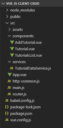 spring-boot-vue-js-postgresql-example-crud-client-project-structure