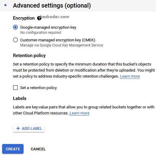 google-cloud-storage-free-setup-encryption-type