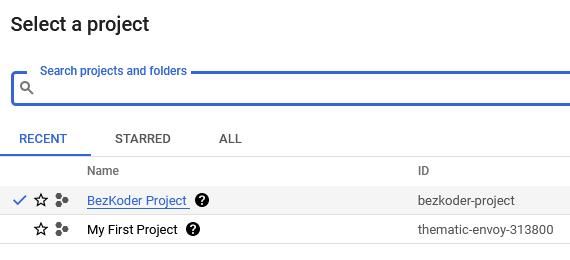 google-cloud-storage-free-setup-select-project