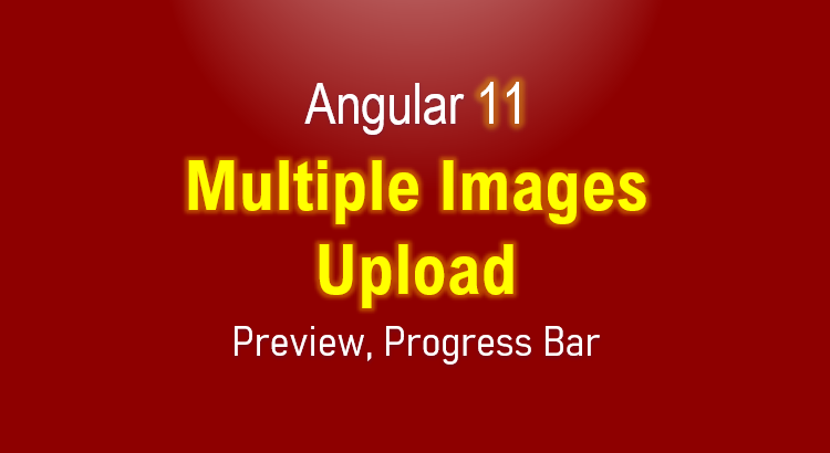 angular 11 Multiple Images Upload with Preview Example